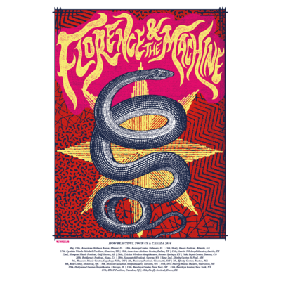 Florence + The Machine: How Beautiful US Tour Screenprint 2016