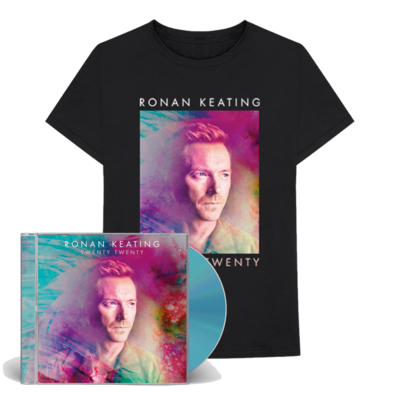 Ronan Keating: SIGNED Twenty Twenty CD & T-shirt bundle