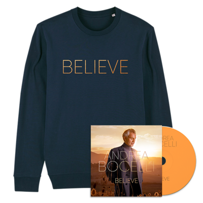 Andrea Bocelli: Believe CD & Sweater Bundle