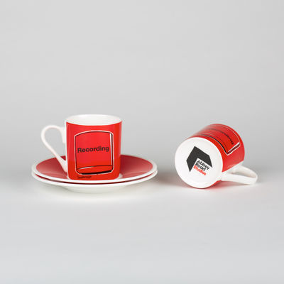 Abbey Road Studios: Red Recording Light Espresso Cup & Saucer Set
