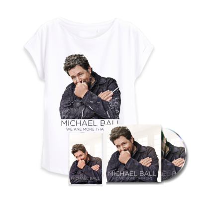 Michael Ball: We Are More Than One signed music & t-shirt bundle