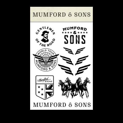 Mumford & Sons : Mumford & Sons Temporary Tattoo Pack
