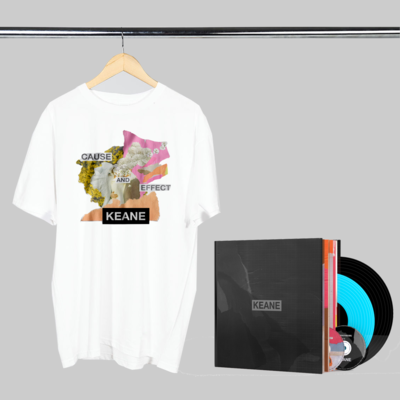 Keane: Cause and Effect: Limited Edition Signed Book + White Tee