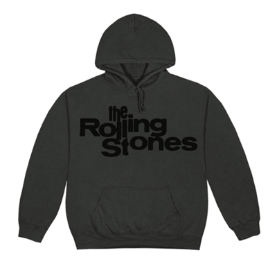 The Rolling Stones: Black on Black Vintage Logo Hoodie