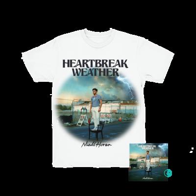 Niall Horan: Heartbreak Weather White T-Shirt + CD