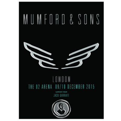 Mumford & Sons : London, UK, 2015 Shows Screen Print