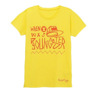 Rizzle Kicks: YOUNGSTER T-SHIRT YELLOW (LADIES)