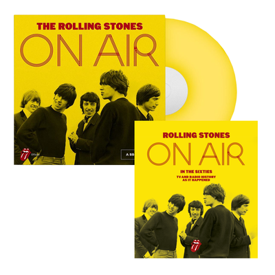 The Rolling Stones: Store Exclusive: On Air Yellow Vinyl & Hardback Book