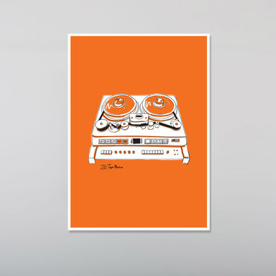 Abbey Road Studios: Orange J37 Tape Recorder Poster