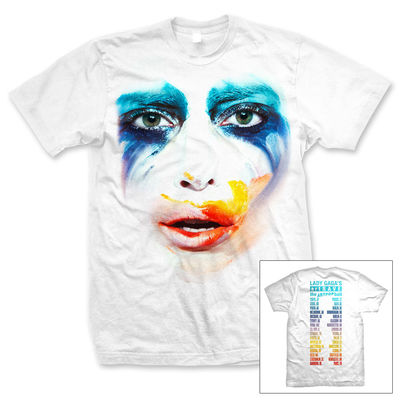 Lady Gaga: White Mens Applause T-Shirt
