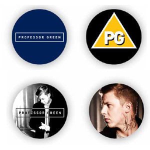 Professor Green: 4 Badge Set