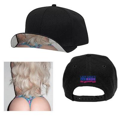 Lady Gaga: Black Cap with Flip Peak Image