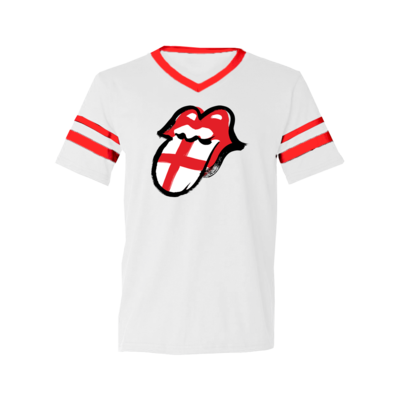 The Rolling Stones: England Football Ringer T-Shirt