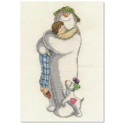 The Snowman: The Snowman and The Snowdog Cross Stitch Kit - Group Hug