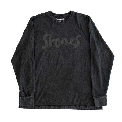 The Rolling Stones: Brush Stroke Stones Washed Longsleeve
