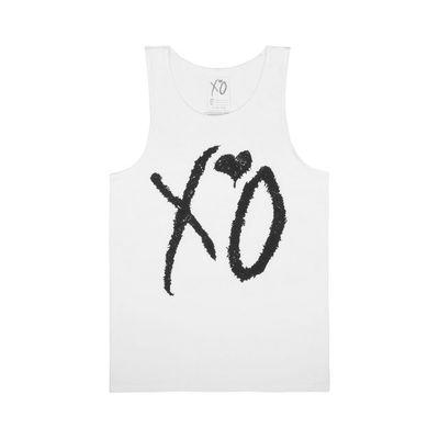 The Weeknd: WHITE XO CLASSIC LOGO UNISEX TANKTOP