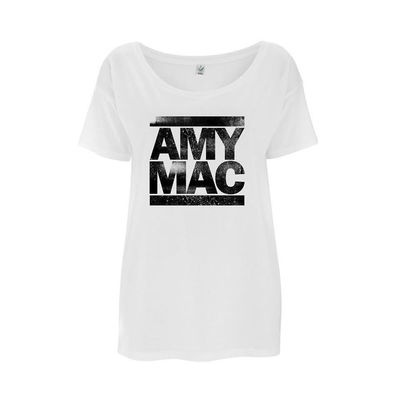 Amy Macdonald: White Distressed Ladies T-shirt - M