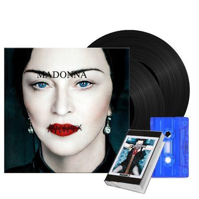 Madonna: Madame X Vinyl + Blue Transparent Cassette