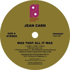 Jean Carn: Was That All It Was / Don't Let It Go to Your Head LP