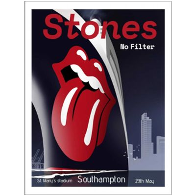 The Rolling Stones: Southampton Lithograph
