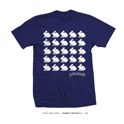 Chas & Dave: Chas And Dave Rabbits Blue T-Shirt