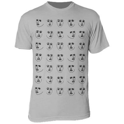 Disclosure: 'MULTI FACE' T-SHIRT (GREY & BLACK)