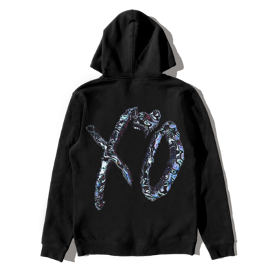 The Weeknd: XO LOGO AFTER HOURS TRIP PULLOVER HOOD