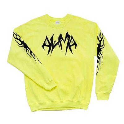 ALMA: Yellow Crew Neck Sweater