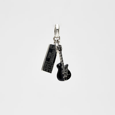 Abbey Road Studios: The Beatles Ticket and Guitar Sterling Silver Charm Dangle