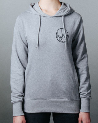 I Play Dirty: Womens Grey Hoodie Medium