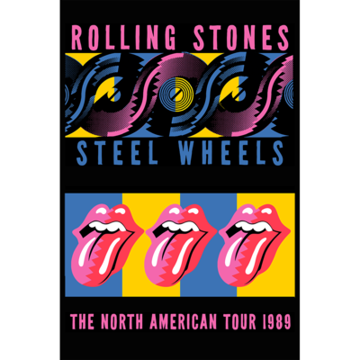 The Rolling Stones: RS Steel Wheels  Stacked A2 Litho