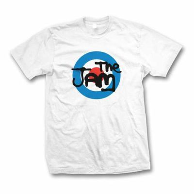 Paul Weller: The Jam Spray Logo White T-Shirt