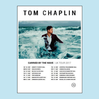 Tom Chaplin: 2017 UK & EIRE Tour Poster