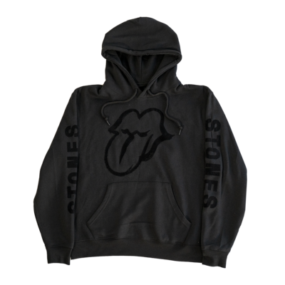 The Rolling Stones: No Filter Licks Flocked Black Hoodie