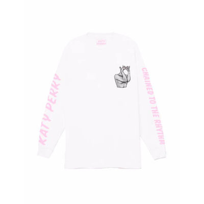 Katy Perry: Chained White Long Sleeve T-shirt