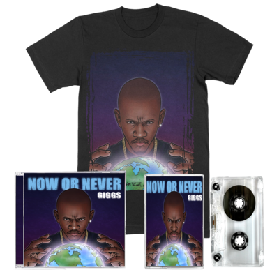 Giggs: Now Or Never: CD, Cassette, Tee + Signed Artcard