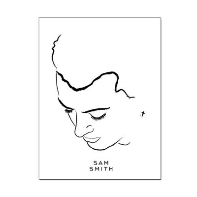 Sam Smith: Portrait Lithograph