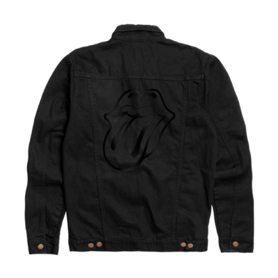 The Rolling Stones: Black on Black Denim Jacket