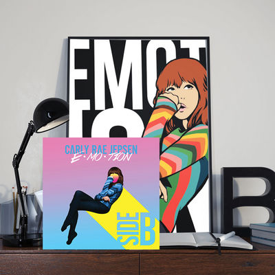 Carly Rae Jepsen.: E.MO.TION Side B Vinyl & Signed Lithograph Bundle