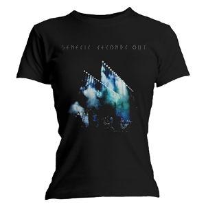 Genesis: Seconds Out Black Ladies T-Shirt