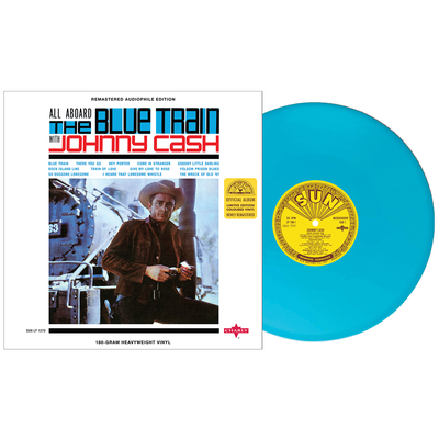 Johnny Cash: All Aboard The Blue Train: Limited Edition 'Blue Train' Coloured Vinyl