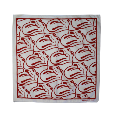 The Rolling Stones: White / Red Tongue Bandana