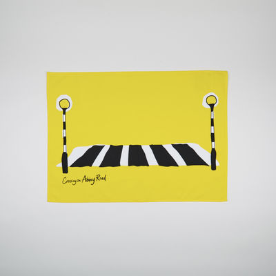 Abbey Road Studios: Abbey Road Crossing Tea Towel Yellow