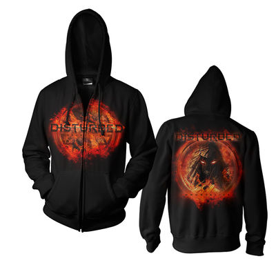 Disturbed: On Fire Zip Hoodie