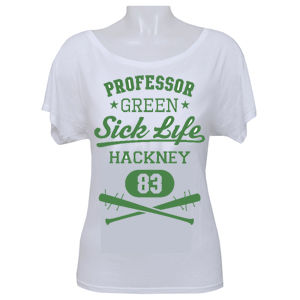 Professor Green: Sick Life on Women's White Batwing T-shirt
