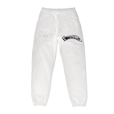 Lil Yachty: LB3 ID WHITE SWEATPANTS