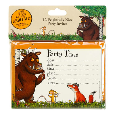 The Gruffalo: Gruffalo 12 Frightfully Nice Party Invites