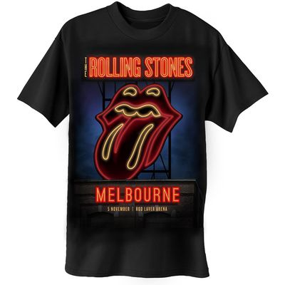 The Rolling Stones: Neon Sign: Melbourne Limited Edition Event T-Shirt