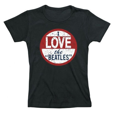 The Beatles: Ladies Premium I Love the Beatles T-Shirt