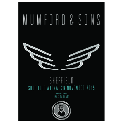 Mumford & Sons : Sheffield, UK, 2015 Show Screen Print